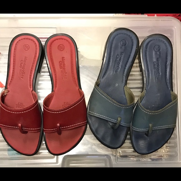 029115d41 Montego Bay Club Leather sandals flip flops